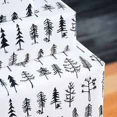 """""""Pine tree wrapping paper! Recycled newsprint that we expect you to recycle too if you buy it from us. Use it well! 22"""" x 30"""" #giftwrap #wrappingpaper #holidayseason #gifts #pinetree #recycled"""" Photo taken by @wearebrainstorm on Instagram, pinned via the InstaPin iOS App! http://www.instapinapp.com (09/15/2015)"""