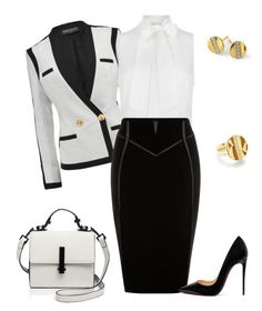 outfit 5400 by natalyag on Polyvore featuring polyvore fashion style MICHAEL Michael Kors Balmain Christian Louboutin Kendall + Kylie Ippolita clothing
