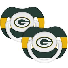 Green Bay Packers Pacifiers! This website has so much cute stuff!
