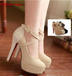 2014 NEW women pumps wedding shoes platform pumps sexy high-heeled shoes thin heels round toe platform shoes size 34-39 $19.54