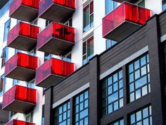 I had never seen red balconies... by carliewired, via Flickr