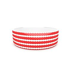 Kess InHouse Heidi Jennnings Feeling Festive Pet Bowl 7Inch Red White *** Click image to review more details.