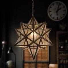 Nordic Vintage Country Industrial Loft Iron Pentagram Led Pendant Lamp Bar Kitchen Coffee Room Home Decor Lighting Fixture