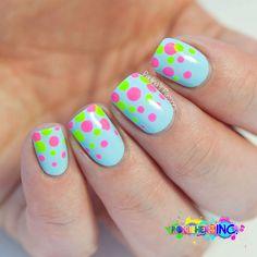 Polishers Inc. - Colorful Polka Dots Nails by @paulinaspassions