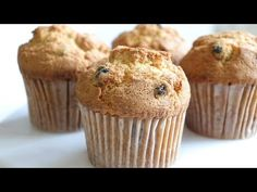 # muffin_recipe How To Make Delicious Blueberry Muffins Let's make a delicious blueberry muffin. Ingredients (for 10 muf. Moist Blueberry Muffins, Blue Berry Muffins, Dried Blueberries, Cupcakes, Cooking Chef, Apple Cake, Muffin Recipes, Oven, Easy Meals