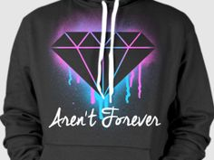 Tired of all these people rocking diamonds on their shirts but can't rock one in real life? Call 'em out, shout it out at the posers.  Diamonds Aren't Forever Spraypaint Graffiti Street Art Hoodie Pullover Obey LRG Supply Co Crooks Castles BBC Rocksmith Streetwear Fashion