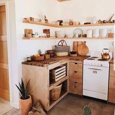 New Kitchen Corner Cupboard Decor Ideas Bohemian Kitchen, Rustic Kitchen Decor, Farmhouse Style Kitchen, Rustic Kitchens, Beautiful Kitchen Designs, Beautiful Kitchens, Kitchen Corner, New Kitchen, Kitchen Ideas