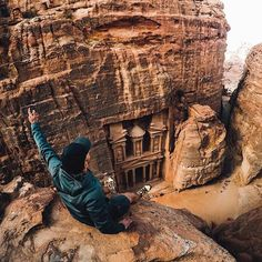 Photo of the Day: @prezio_a overlooks one of the new Seven Wonders of the World. Dated as far back as 312 BC, we're lucky to have the #ancient architecture of #Petra set in stone. Which wonders have you traveled to?   • • • @GoProME #GoProME #Jordan #GoProTravel #Sightseeing