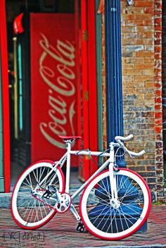 Coca Cola and bicycle