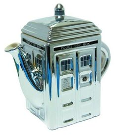 Doctor Who TARDIS 3-D Ceramic Silver Teapot - BUY NOW #DoctorWho