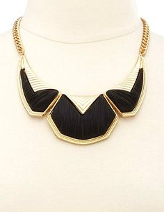 Matte Brushed Geometric Collar Necklace: Charlotte Russe
