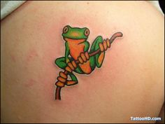 frog tattoos | puerto rico frog tattoo , Frog Tattoos