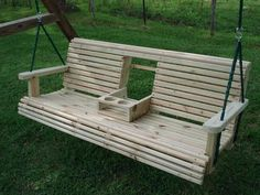 crown molding arm rest | Back Yard Swing With Drink Holders - Furniture - 586 - Rockler.com