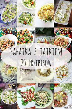 salatka_z_jajkiem Pasta Salad, Cobb Salad, Healthy Dishes, Healthy Recipes, Polish Recipes, Food Porn, Food And Drink, Favorite Recipes, Dinner