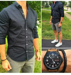Best Mens Summer Casual Shorts Outfit To Wear Now 12 Casual Shorts Outfit, Casual Outfits, Men's Summer Outfits, Stylish Men, Men Casual, Mens Casual Summer Fashion, Smart Casual, Mode Masculine, Look Man