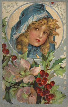 Beautiful season's greetings. #vintage #Christmas #cards