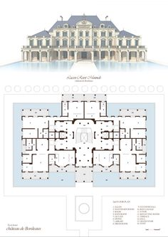 "Village Type-1 (Baroque Style), ""DAEMYUNG LUCEEN RESORT : Culture Theme Resort CG Plan & Elevation / ""대명 루첸 리조트"" 빌리지 타입1. 평면도, 입면도"
