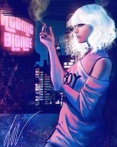 ❌ATOMIC BLONDE❌ #atomicblonde #charlizetheron #movie #movieposter #art #fanart #poster #draw #UnderPressure