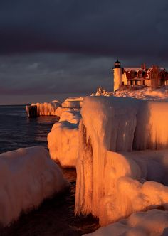 Lighthouse and ice