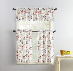 Best Kitchen Curtains of 2021 | CountryCurtains Kitchen Curtains And Valances, Tier Curtains, Kitchen Curtain Sets, Window Drapes, Cafe Curtains, Country Curtains, Bathroom Curtains, Coffee Theme, Coffee Shop Design