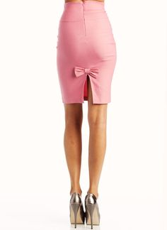 high waist pencil bow skirt SUPER CUTE!