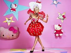 i'm all for Hello Kitty dress-up but this one is a miss for me Miss Georgina Chapman: America's (British) Next Top Model