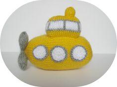 Whirly Submarine  ... toy knitting pattern design by Amanda Berry