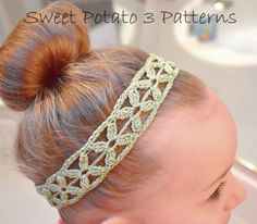 (4) Name: 'Crocheting : Simple Flower Headband