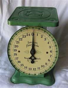 I just love vintage kitchen scales