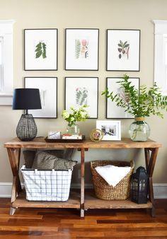 mesa de entrada decorativa