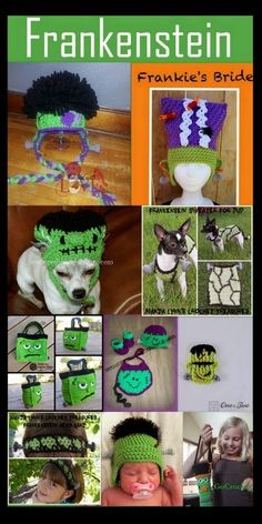 Posh Pooch Designs Dog Clothes: Frankenstein Tuesday Treasury Crochet Pattern Collection