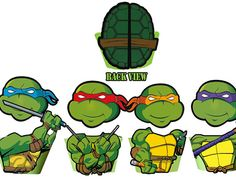 INSTANT DOWNLOAD Teenage Mutant Ninja Turtles Cupcake Toppers Wrappers - Birthday Party Printables