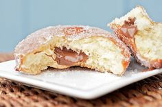 nutella filled sugared donuts