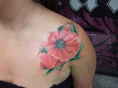 #BLACKSTARSTUDIO # color tattoo #flower tattoo