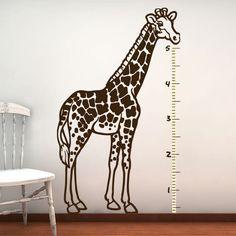 Giraffe Wall Decal  Kids Growth Chart  Vinyl Sticker by urbandecal, $88.00
