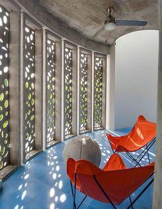 El Blok Hotel in Vieques, Puerto Rico Art And Architecture, Architecture Details, Puerto Rico, Building Skin, Unique Hotels, Architectural Digest, Decor Interior Design, Screens, Home Decor