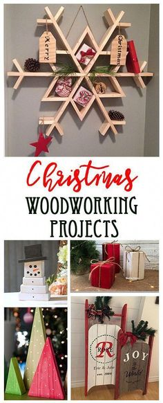 15 ideas that you can build out of wood fo… Easy Christmas woodworking projects. 15 ideas that you can build out of wood for the holiday season. Easy woodworking projects all the way to more complex carpentry! Small Woodworking Projects, Popular Woodworking, Woodworking Jigs, Woodworking Furniture, Woodworking Techniques, Woodworking Basics, Furniture Plans, Woodworking Classes, Youtube Woodworking