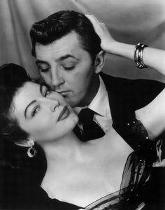 Portrait of Ava Gardner and Robert Mitchum in My Forbidden Past directed by Robert Stevenson, 1951