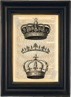 Hey, I found this really awesome Etsy listing at http://www.etsy.com/listing/89607508/royal-crowns-and-tiara-engraving-print