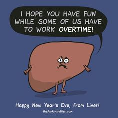 Liver is not happy with your New Year's Eve shenanigans Akward Yeti, The Awkward Yeti, Happy New Years Eve, Happy Year, Heart And Brain Comic, Funny New Year, New Year Pictures, Funny Pictures, Science Jokes