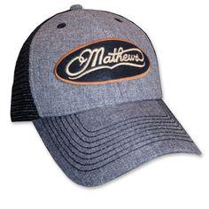 74ab5888e8ce7d Mathews Black Pepper Mesh Hat With Mathews Swiss Felt Oval Logo; Need to  switch out