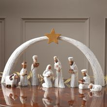 The Holy Family Nativity Set is made by Pekerti in Indonesia. They aim to enable rural people to boost their income through the making and selling of traditional crafts. Buy it at Traidcraft. Christmas Nativity Set, Nativity Sets, Christmas Crafts, Christmas Decorations, Christmas Napkin Folding, Christmas Napkins, Beautiful Christmas, White Christmas, Vintage Christmas