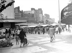 1960s Bull Ring with the ramp on the right.