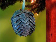 Aqua paisley Christmas ornament by @kikiverde on Etsy. $20 #christmas #ornament #decoration #gift #handmade