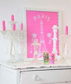 Pink! Will totally do this w my loft/office
