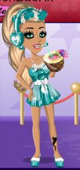 pretty blue and white moviestarplanet outfit