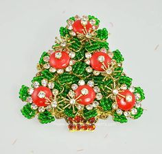 Christmas Tree Brooch - by Stanley Hagler