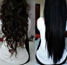 Long dark brown hair-- I love the color, but it's to dark for my pale freckled skin. I wish i could get my hair to style like both of these! Pretty Hairstyles, Straight Hairstyles, Long Haircuts, Kid Hairstyles, Curly To Straight Hair, Curly Hair Styles, Natural Hair Styles, Natural Curls, Look 2015