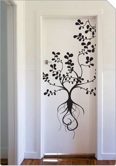 Treeroots - vinyl art, wall art, removeable graphics :  nature design wall stickers