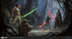 Star Wars Moment 1 by VegasMike. Or, what if Luke had gone to the Dark Side? Star Wars Fan Art, Star Wars Concept Art, Star Wars Brasil, Jedi Sith, Sith Lord, Star Wars Jedi, Star Trek, Star Wars Characters, Clone Wars
